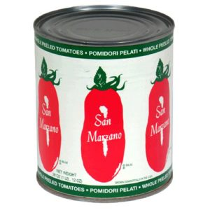 Image of a can US San Marzano brand whole tomatoes.