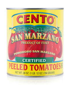 Image of a can Cento San Marzano tomatoes.
