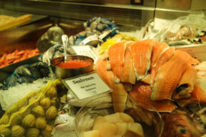A lovely selection of fresh seafood for Cioppino.