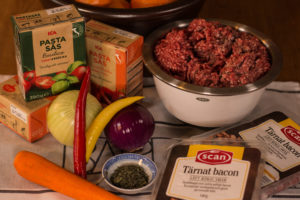 "Ingredients for ""Instant Pot"" Ragu."