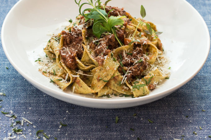 Pappardelle and Lamb Ragu.