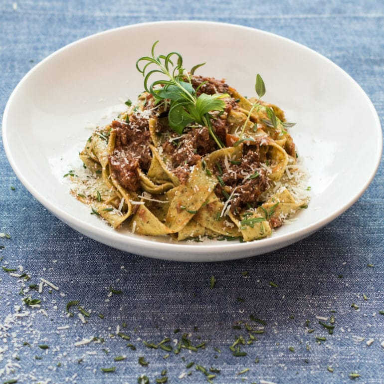Amazing Slow Cooked Italian Lamb Ragout With Pasta Lost In A Pot