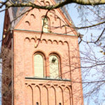 A view of Remmarlövs Kyrka in Eslöv Kommun.