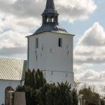 A view of Reslövs kyrka in Eslöv Kommun.