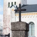 a view of Trollenäs kyrka in Eslöv kommun, Sweden.