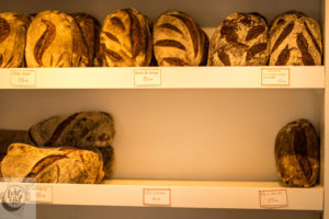 Bread on the shelf.