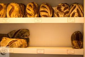 Bread on the shelf.