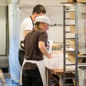 People making bread.