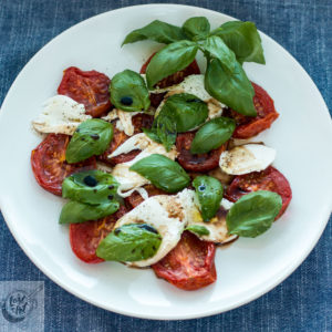 Roasted Tomato Caprese Salad.