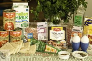 Ingredients for Italian Meatloaf.