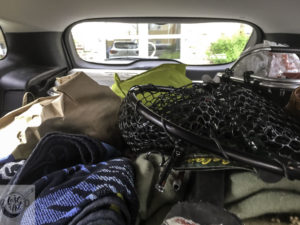 The car is loaded for our holiday week.