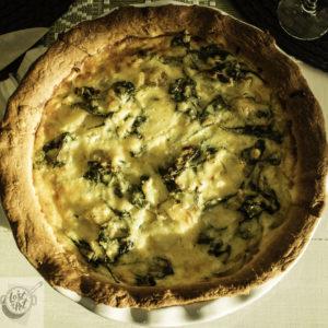 Färskpotatispaj med Spenat or Fresh Potato pie.