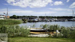 A view of Hällevik bay, Sweden.