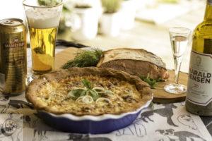 A lovely Potato pie, served with luscious smoked salmon.