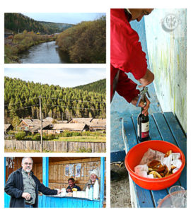 A collage showing images from my road trip to the Siberian Dacha.