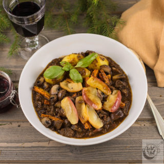 in the forest with friends & a great wild game stew recipe…