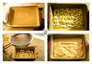 Steps to making Amalia Lundberg's Äpplekaka or Apple cake.