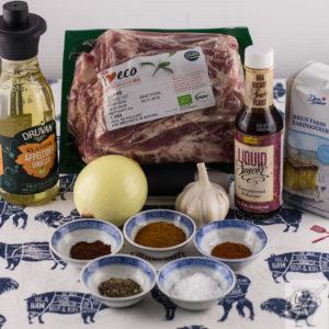Ingredients for Bill's Kansas City Pulled pork.